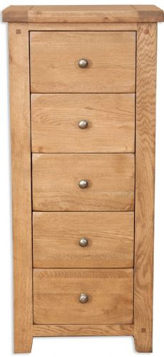 Melbourne Country Oak 5 Tall Chest